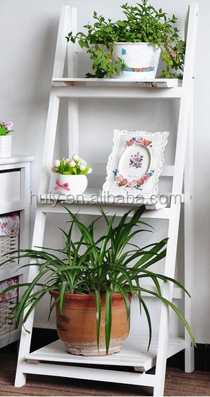 Indoor Plant Stand 3 Wooden Shelves Display Flower Pots Racks Outdoor Garden  New