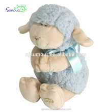 Baby Ultra Soft and huggable Musical Praying Woolly Lamb, Blue plush sheep toy