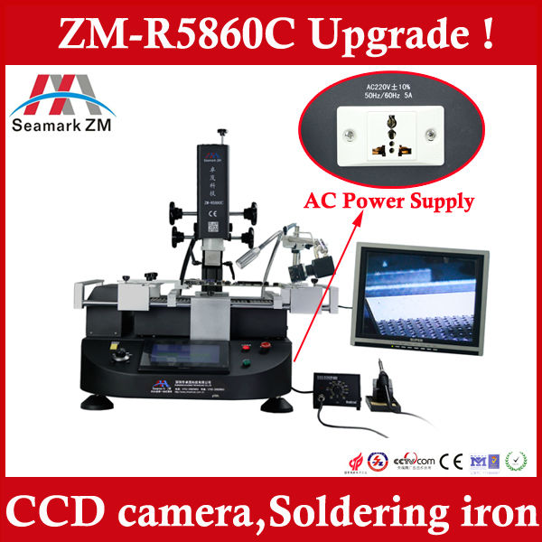 High quality and performance BGA rework station ZM-R5860C ,upgrade from scotle ir 360 pro
