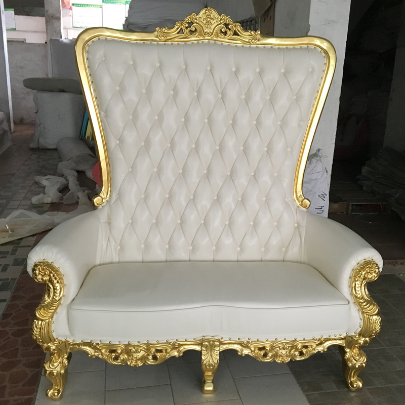 Vintage Bride Groom Love Seat Kissing Wedding Chairs, Wedding Stage His & Hers Soft Wedding Chairs