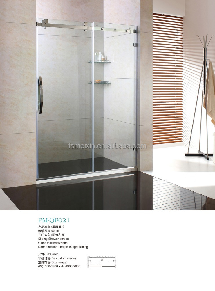 America style right sliding open shower door M-QF021
