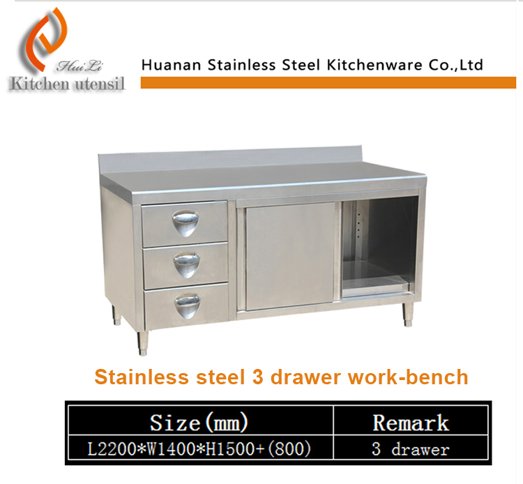 Modern professional cheap restaurant 201/304# stainless steel Commercial Kitchen pantry Cabinet made in