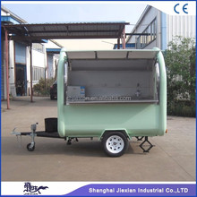 JX-FR220B removable snack vending fried ice cream cart / trolley food trailer / mobile small food cart for sale