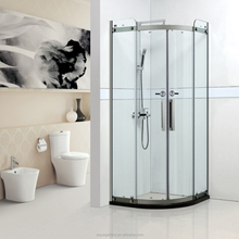 Corner Mounted Bathroom Glass Shower Cubicle