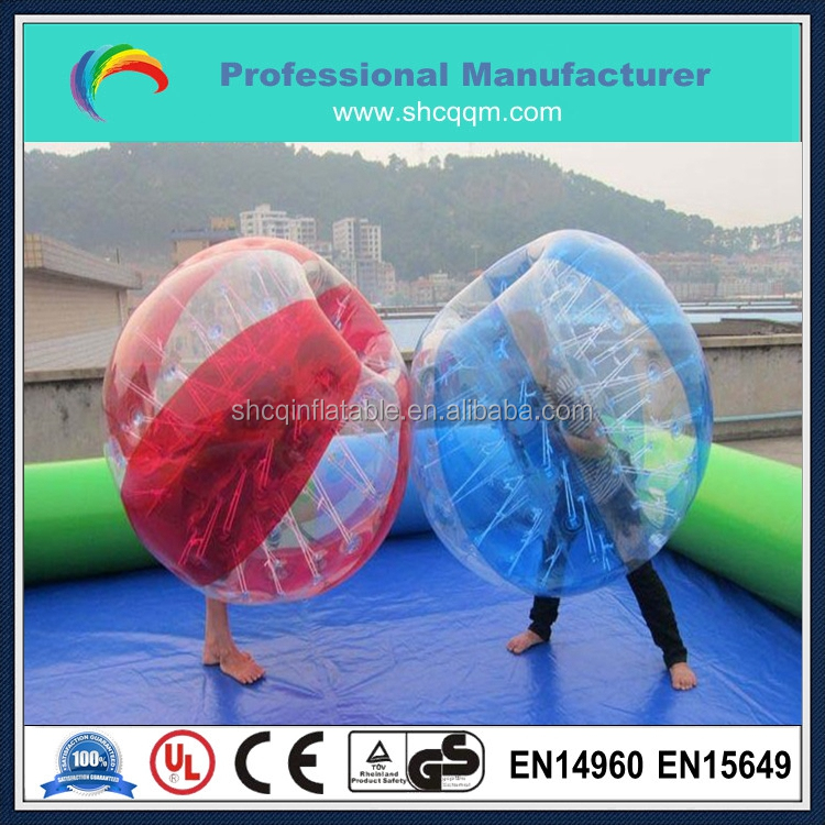 TPU/PVC inflatable bumper ball/colorful soccer bumper ball/bubble bumper ball for sale