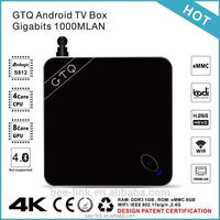 GTQ Metal Case TV Box Gigabit 1000M LAN Android Smart TV Box Full HD Media Player OTT TV Box