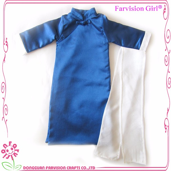 New arrive educational doll clothing, Chinese tunic suit