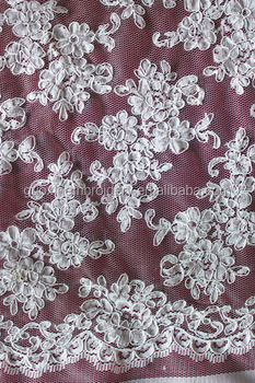 2015 Fashion elastic jacquard lace fabric for wedding dress
