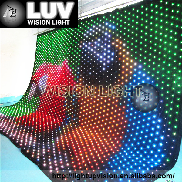 Stage decoration light LED flexible soft led video curtains