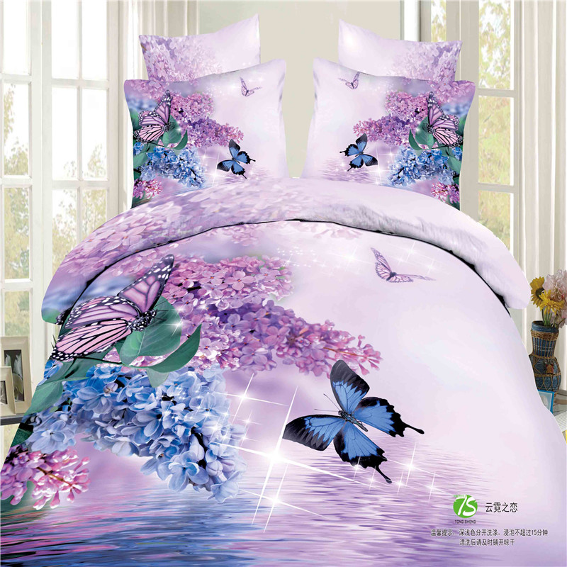 hot selling home used textile 3d bedding sets 100% cotton bedsheets