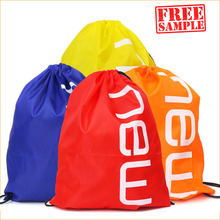strong drawstring backpack bag with inside zipper pocket polyester or nylon plastic cute backpack drawstring bag