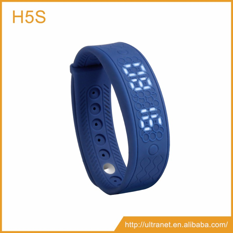 Unique 3d pedometer heart rate monitor smart bracelet health sleep monitoring