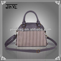2013 latest design new arrival stripe canvas women's bag