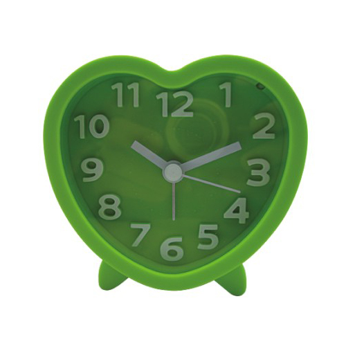 Heart Shape Index Alarm Clock With Light