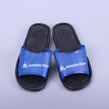Blue PVC Cleanroom Antistatic Slipper / ESD <strong>Safety</strong> Slippers For Factory&amp;Lab