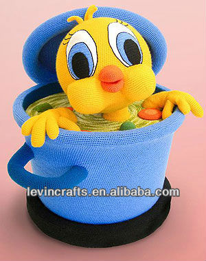 LE-A130410003 plush cute chicken toy boiling in the tank