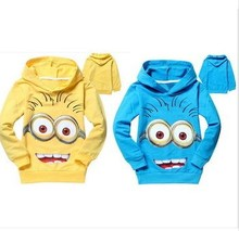 WHOLESALE 2 color Minion clothing child Spring hoodies Tops & Tee boys Minnie hoodies