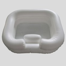 Disability aids plastic inflatable shampoo basin for bed home