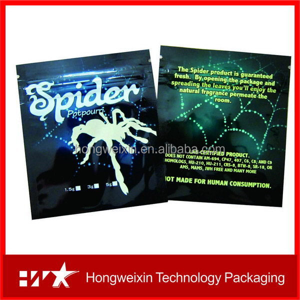 Special hot selling kush herbal incense bags with ziplock