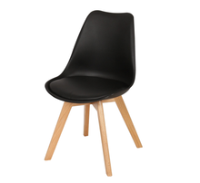 Low Factory Price Wholesale PP Plastic Emes Dining Chair With Wood Legs