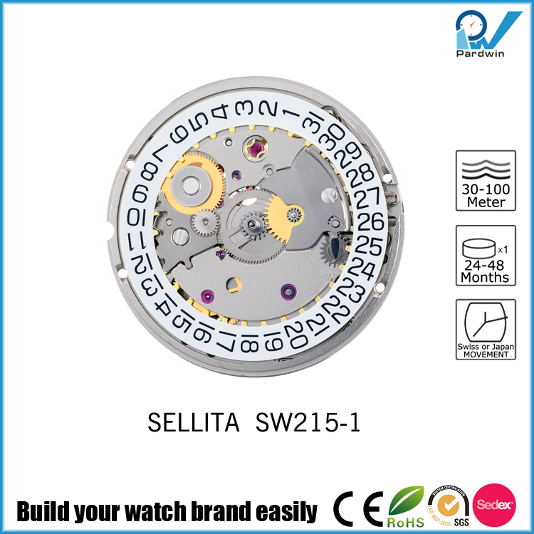 Genuine Sellita Mechanical Movement SW215 with Calendar Long Running Time Watches