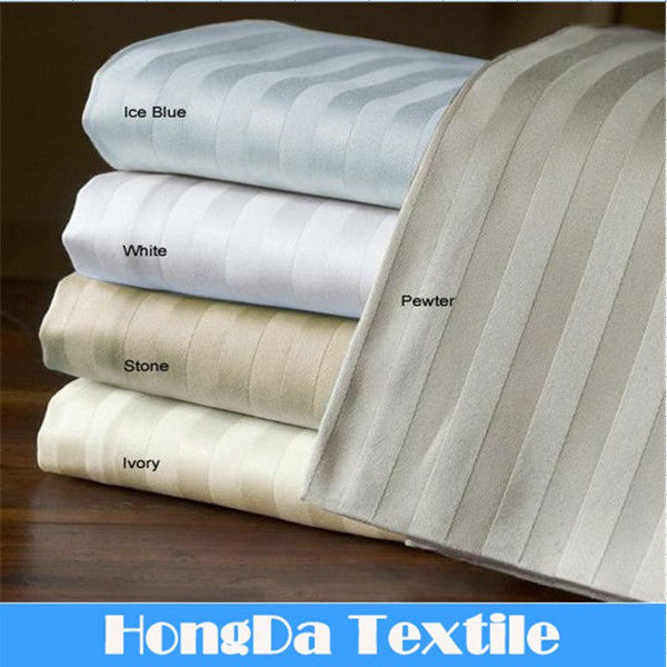 6 PC 100%cotton 300TC striped bed cover set