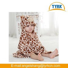 cute hooded baby bath towels embroidered knitted cheap fleece baby blankets wholesale