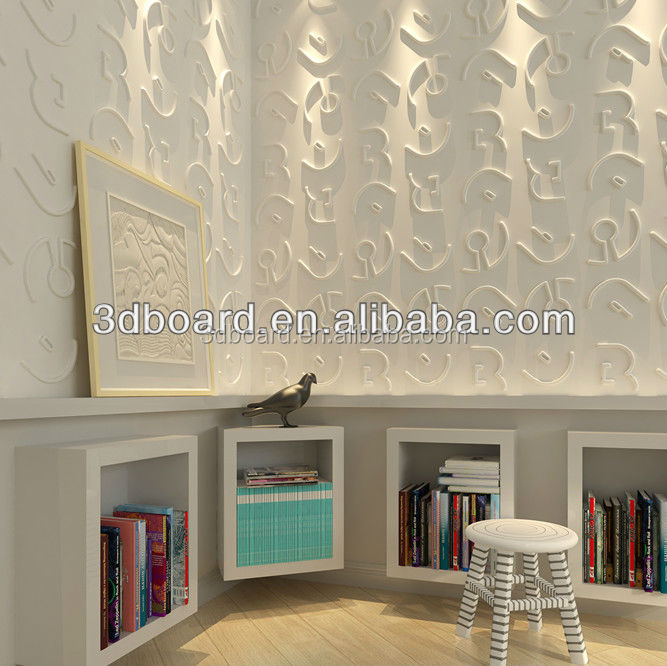 Home decor waterproof 3d wall panel bamboo