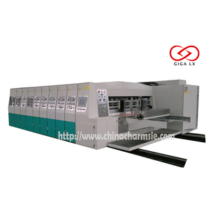 GIGA LX 707 Full-servo vacuum suction high speed flexo printing & Die cutting corrugated box making machine