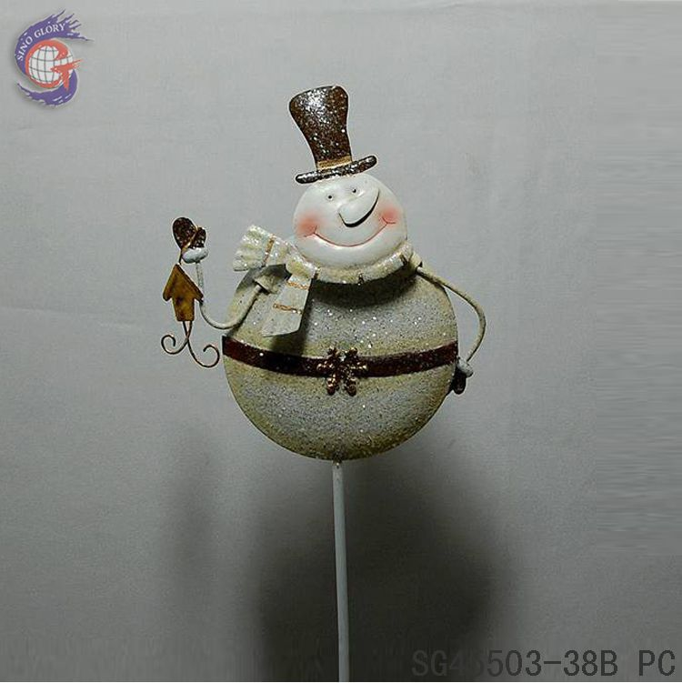 christmas iron snowman for Xmas garden decoration