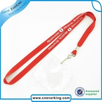 personalized eco-friendly lanyard with plastic pocket