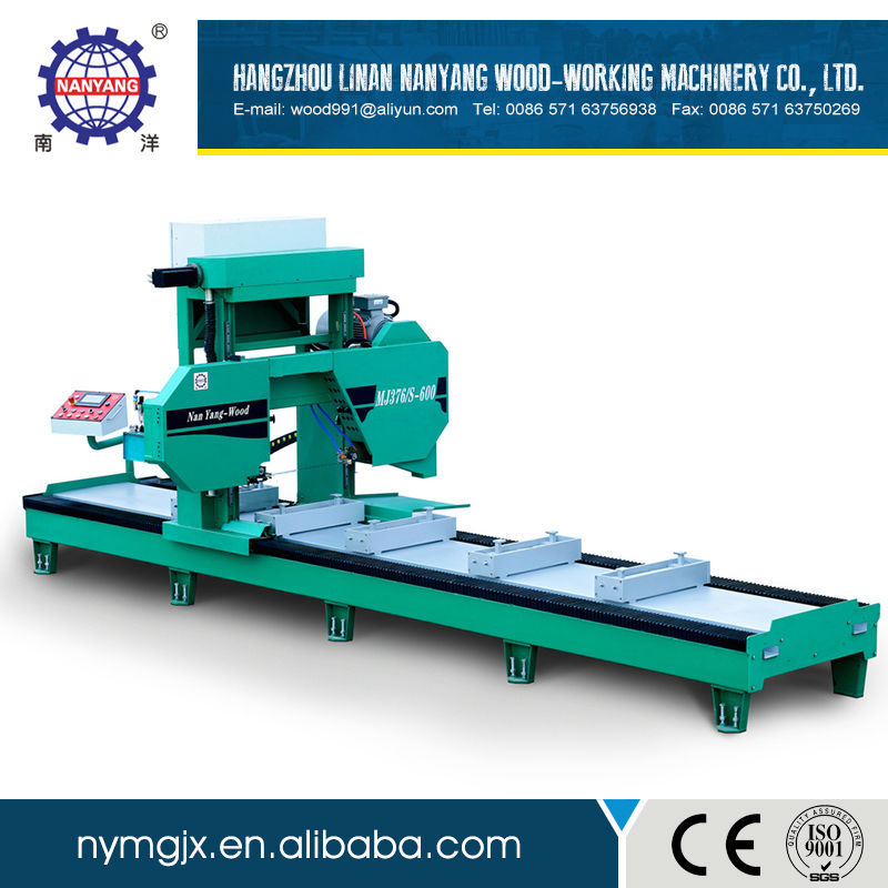 Full Automatic electric cutting wood band sawmill