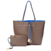 Free customized ladies' handbag at low price reversible tote bag, lady leather handbags thailand hot selling