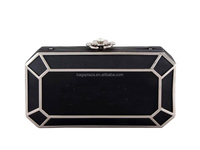 EV3034 Hot selling evening clutch bag black box young women acrylic clutch bag