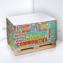 Container wooden pallet notepad/trending sticky note with wooden pallet/notepad on wooden pallet