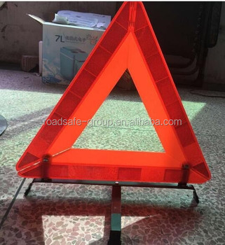 Car Breakdown Emergency Roadside Reflective Warning Triangles with Stand