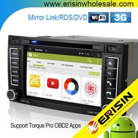 Erisin ES2742T Android 4.4.4 Double Din 7 inch Car DVD Player for Touareg