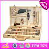 2015 Latest wooden tool box toy for kid,diy funny wooden toy tool box toy for children,Popular wooden Workbench Tool Toy W03D021