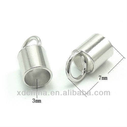 XD P243 3mm 925 sterling silver end caps leather end cap