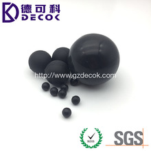 6mm 8mm 9mm 10mm black small solid silicone rubber ball with hole