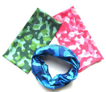 Magic and useful polyester seamless bandana mouth cover head cover