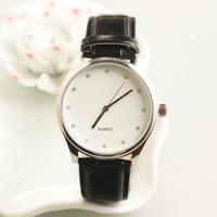 2017 leather strap slim case multi-function king quartz chronograph watch