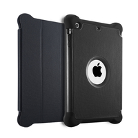 New design flip cover case for ipad mini,3 in 1 protective cover case with stand