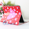 2015 New Cute Dotted Mushroom Design PU Leather Flip Case For iPad