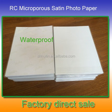 260g Trade assurance inkjet photo paper rc satin photo paper 3x5 photo paper
