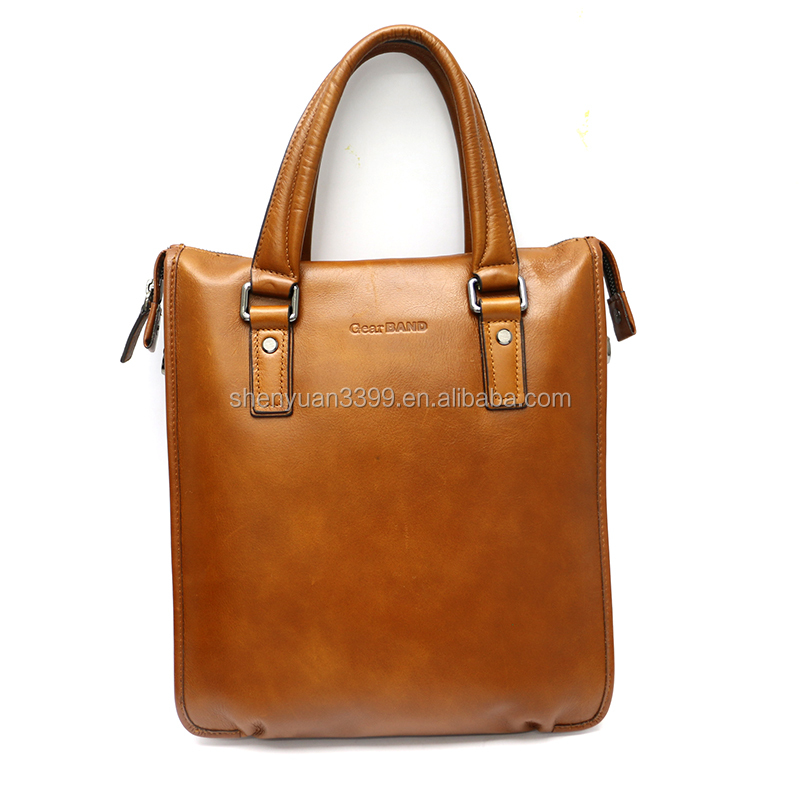 2016 custom made briefcase leather executive men's shoulder bags Top fashion lawyer briefcase