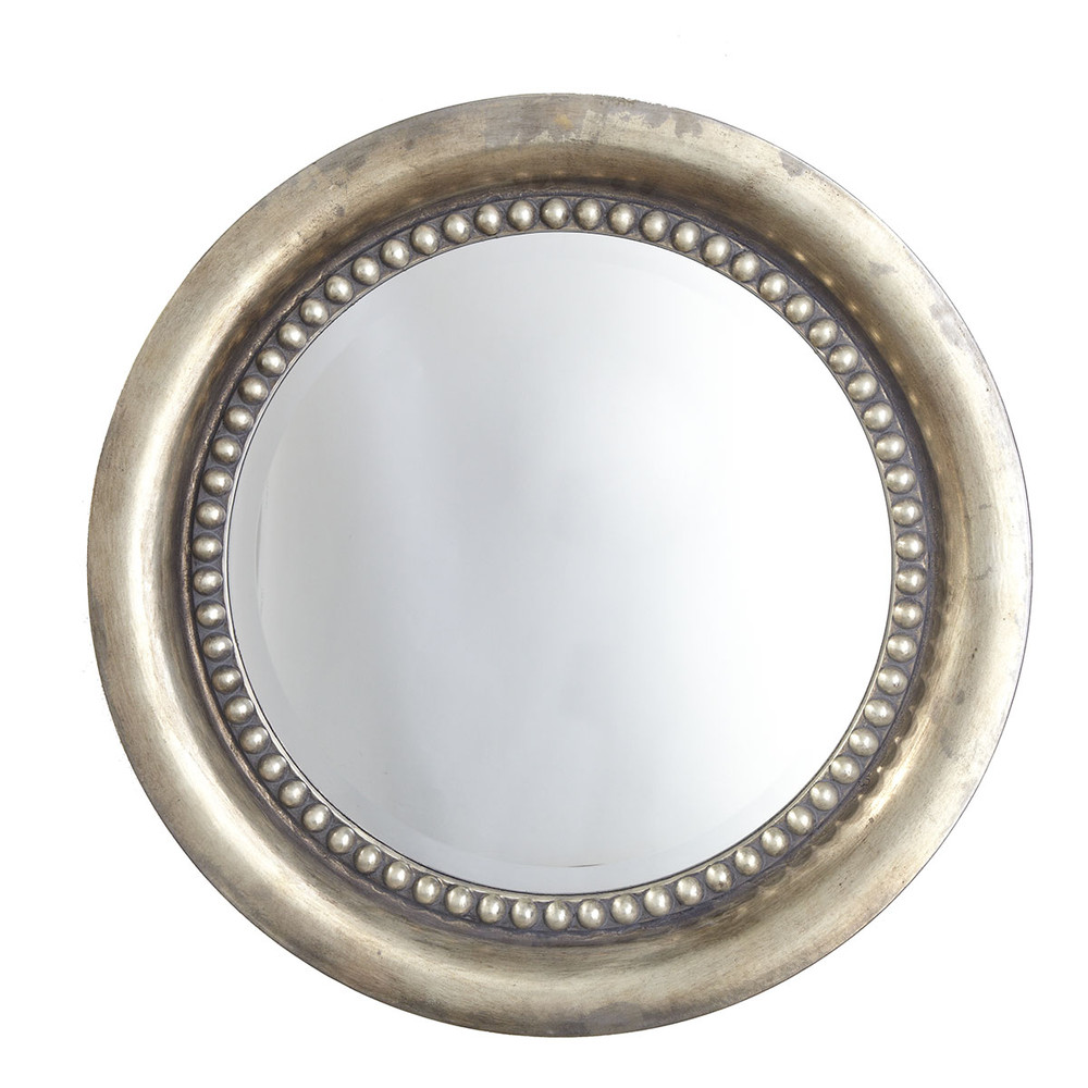 Hot sales Round PU framed wall decorative beveled mirror