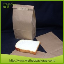 4# Hot Sale Brown Square Bottom Kraft Paper Bag for Bread Packaging