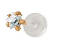 Body Piering Jewelry 3mm Star CZ 14k Yellow Gold &Bio Flex Push in Labret Body Jewelry