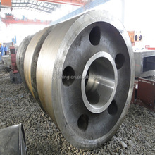 Casting and forging steel pinion gear for mining machines